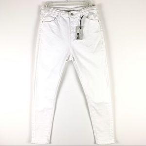 Topshop Moto Jamie High Waist Ankle Grazer jeans